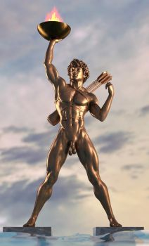 Colossus of Rhodes by Aniwayalone