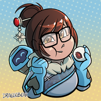 Mei and Red Bean Bun by DragonBeak