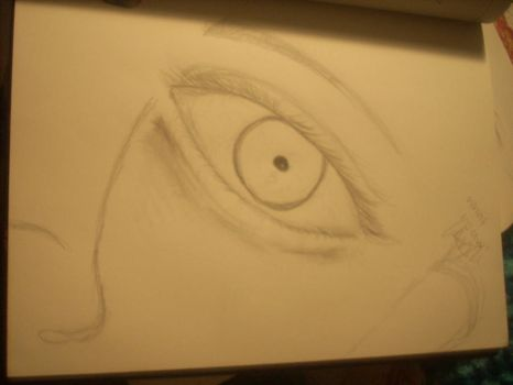 What I Saw-eye first attempt by art-is-oxygen