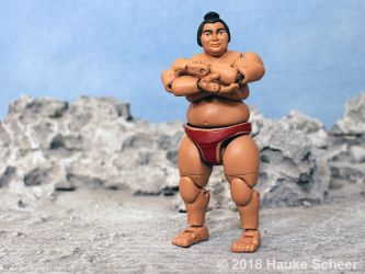 3D printed Sumo action figure pose B by hauke3000