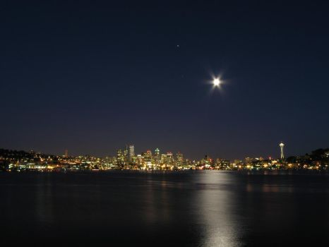 Seattle at night by Cobra740