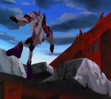 Megatron falling off a cliff after fight with OP by du365