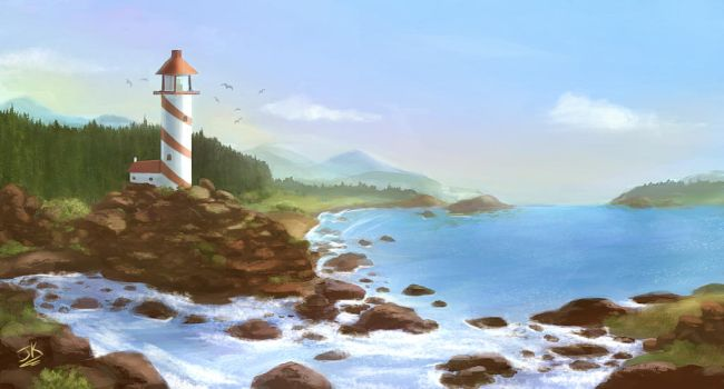 Lighthouse by BadLuckArt