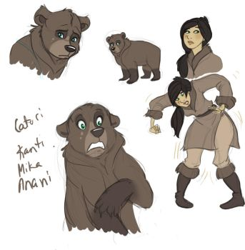 Brother Bear character by NatAsplund