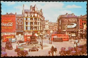 Vintage UK - Piccadilly Circus, London by Yesterdays-Paper