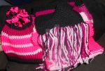Knitted Hat and Scarf I Made! by TNoire
