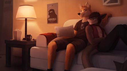 Movie Night [Commission] by ItsWolven