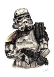 Star Wars Sandtrooper Colour by ZeroFoxFaceless