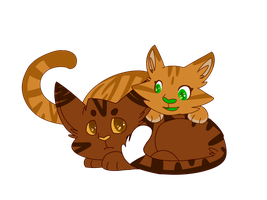 Alderpaw and Sparkpaw by maracat0901