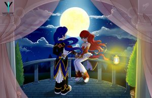 Grand Chase - Ronan and Elesis falling in love by YarickArt
