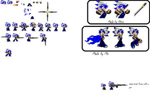 Power the X Hedgehog sprite sheet by Power1x