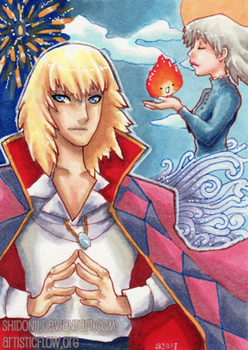 Howl and Sophie ATC by shidonii