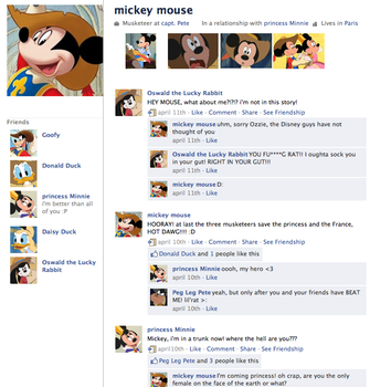 Mickey musketeer fake profile by twisted-wind