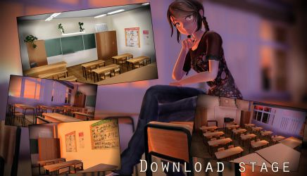 MMD stage russian classroom math\life safety DL by ElviraMoa