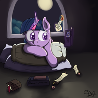 Reading in the moonlight by TwilightSquare