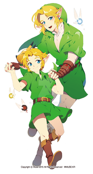 link and young link by muse-kr