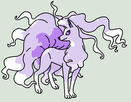 Purple Alolan Ninetails by QuestionUnicorn