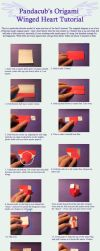 Origami Winged Heart Tutorial by pandacub143