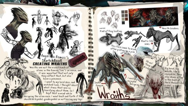SketchBook: Creating the Wraiths by AngelitaRamos
