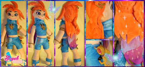 Zoe, The Aspect of Twilight - LoL Custom Plush by Sugah-Stixx