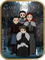 House Stark of Winterfell - Game of Thrones. by Ledilustrado