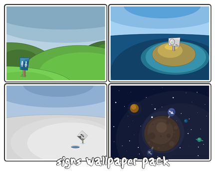 Signs wallpaper pack by a-t-o-m-i-c