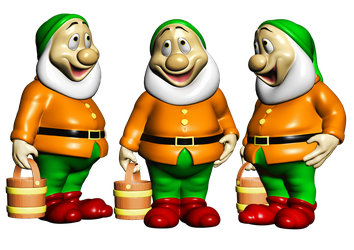 Happy Garden Gnome PNG Stock by Roy3D
