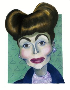 Faye Dunaway in Mommie Dearest by Caricature80