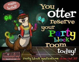 Party Block Applications Close Oct 31! Apply now! by Vancoufur