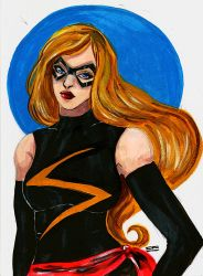 Ms Marvel - Acrylics by Daisku