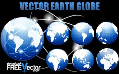 Vector Earth Globe by downloadfreevector