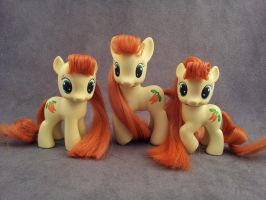 MLP: FiM - Golden Harvest x3 - custom ponies by hannaliten