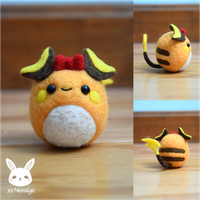 Felted Ribbon Raichu