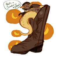 Snake In My Boot | Art Fight by All-The-Fish-Here