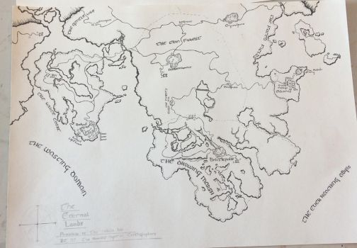The Eternal Lands Fantasy Map (Inked no colour) by xxdrag0nki1l3rxx