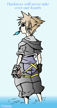 Sora from KHII with colors by ninnu-chan