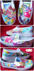 Color Explosion Shoes by someorangegirl