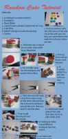 Clay Rainbow Cake Tutorial by CandyChick