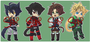 Adoptables: Neko Set [CLOSED] by Shikiftw