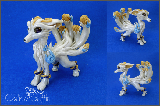 Custom order: Nine-tailed fox by CalicoGriffin