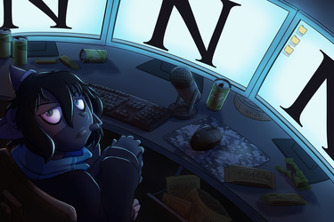[Commission] Near in her room by TheNekoboi