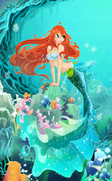 Bloom Mermaid by alamisterra