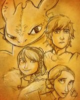 How Train Your Dragon 2 - SKETCH by Gian16