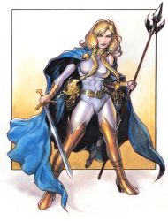 Valkyrie from Marvel Comics by Reverie-drawingly