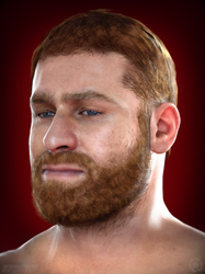 Sami Zayn test render portrait by ArRoW-4-U