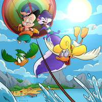 Commission - Parasailing by BoscoloAndrea