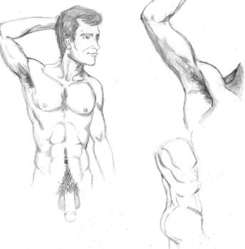 Male anatomy study by StickWilde