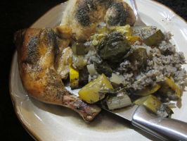 Lemon-Dill Chicken and Rice 3 by Windthin