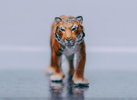 Schleich Bengal Tiger repaint. by wearejustfoxes