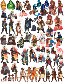 DnD character dump by onioned